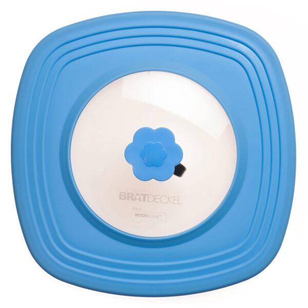 C28-28-cm-Bratdeckel-quadratisch-blau